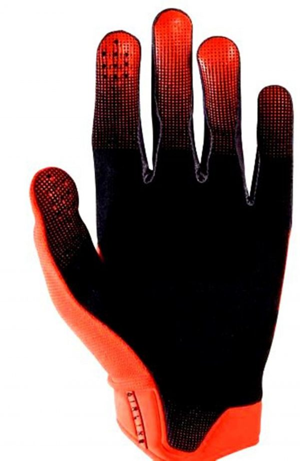 Fox Airline Moth Motocross gloves (KTM Orange) Lg / 2XL - image 2-600x920 on https://www.bargainbikebits.com.au