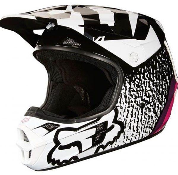 FOX Girls Motocross Helmet Pink Youth Halyn Dirt Bike MX - image 3-600x590 on https://www.bargainbikebits.com.au