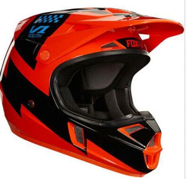 FOX Youth Motocross Helmet KTM Orange MASTAR Kids Dirt Bike MX - image 4-600x578 on https://www.bargainbikebits.com.au
