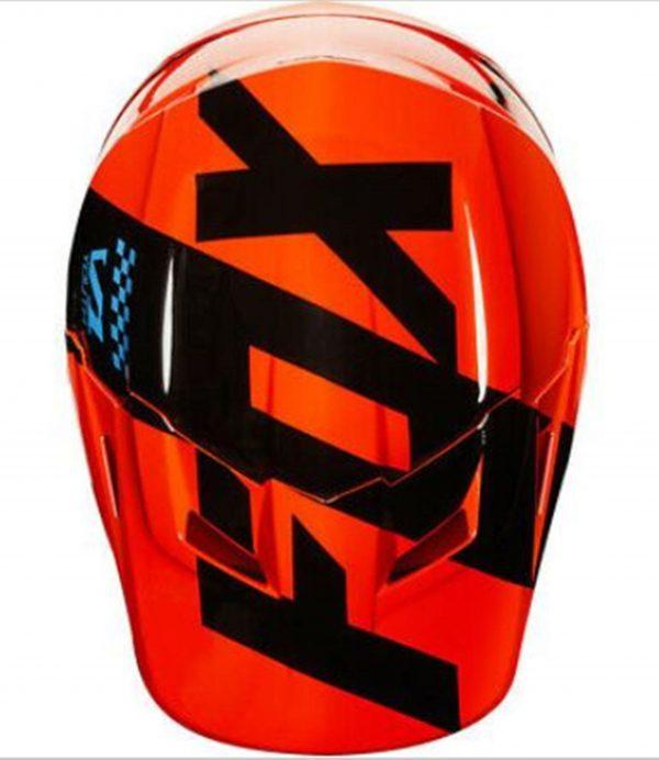 FOX Youth Motocross Helmet KTM Orange MASTAR Kids Dirt Bike MX - image 9-600x692 on https://www.bargainbikebits.com.au