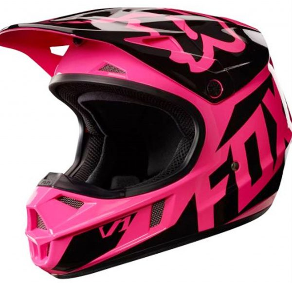 FOX Girls Motocross Helmet Pink Youth Dirt Bike MX Yth Lg - image Fox-pink-helmet-2017-600x581 on https://www.bargainbikebits.com.au