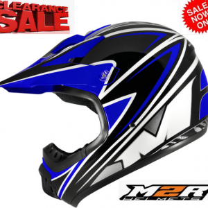 M2R 901 Flip Up Motorcycle Helmet  (matt black) - image M2R-SX100-BLUE-300x300 on https://www.bargainbikebits.com.au