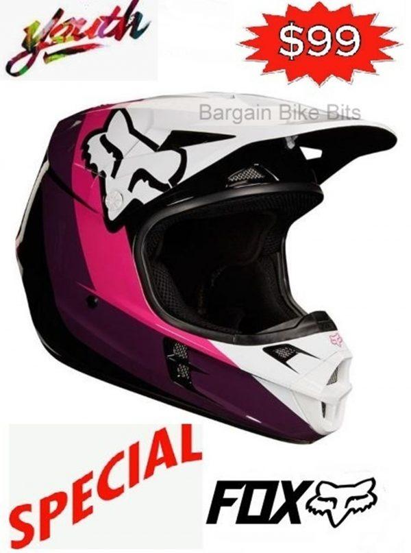 FOX Girls Motocross Helmet Pink Youth Halyn Dirt Bike MX - image bbb-halyn-600x807 on https://www.bargainbikebits.com.au