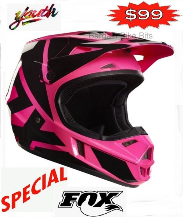 FOX Girls Motocross Helmet Pink Youth Dirt Bike MX Yth Lg - image bbb-pink-V1-600x713 on https://www.bargainbikebits.com.au