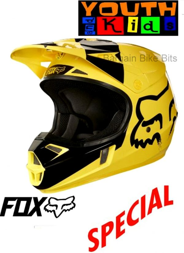 FOX Youth Motocross Helmet Yellow MASTAR Kids Dirt Bike MX - image bbb-yellow-600x822 on https://www.bargainbikebits.com.au