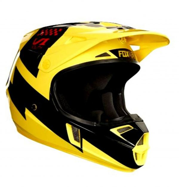 FOX Youth Motocross Helmet Yellow MASTAR Kids Dirt Bike MX - image y2-600x649 on https://www.bargainbikebits.com.au