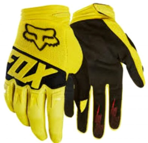 Fox 'DIRTPAW' Youth Kids Motocross gloves yellow - image 1-600x580 on https://www.bargainbikebits.com.au