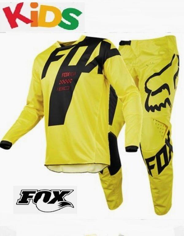 Fox Youth Motocross pants & jersey Mastars #24 /YM Suzuki Yellow Kids BMX MX - image combo-600x768 on https://www.bargainbikebits.com.au