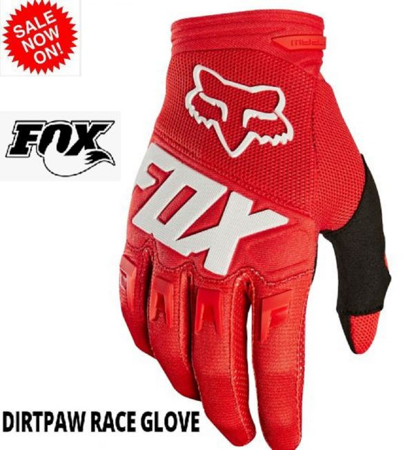 Fox 'DIRTPAW' Motocross gloves (red) - image dirtpaw-2018-red-600x651 on https://www.bargainbikebits.com.au