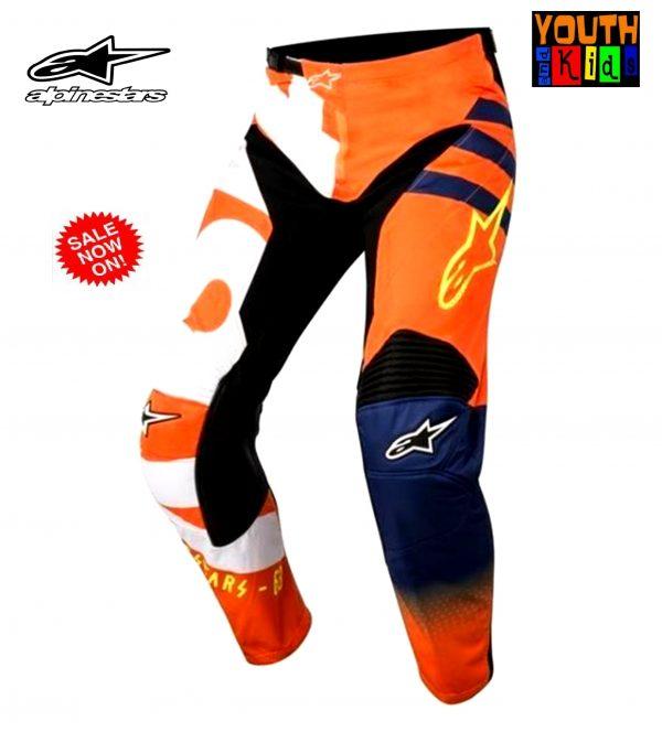 Alpinestars Youth Kids Motocross pants KTM Orange Braap BMX MX - image Alpinestars-Braap-Orange-blue-600x664 on https://www.bargainbikebits.com.au
