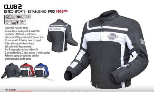 Dririder CLUB 2 Motorcycle Retro Road Jacket (black) 6XL 8XL - image CLUB-2-600x358 on https://www.bargainbikebits.com.au