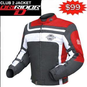 Dririder Comet Xenon Motorcycle Jacket Silver Hi Viz - image club-2-red-300x300 on https://www.bargainbikebits.com.au
