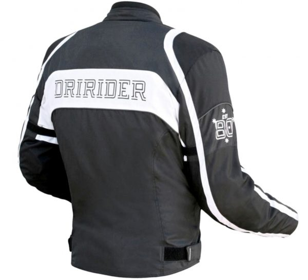 Dririder CLUB 2 Motorcycle Retro Road Jacket (black/white) - image dririderclubjacketblackwhite-600x545 on https://www.bargainbikebits.com.au