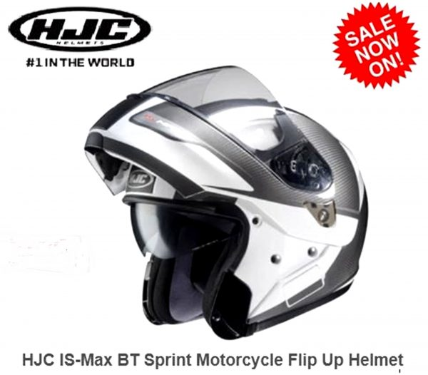 HJC IS SPRINT Flip Up Motorcycle Road Helmet  with SUNVISOR - image 1a-600x526 on https://www.bargainbikebits.com.au