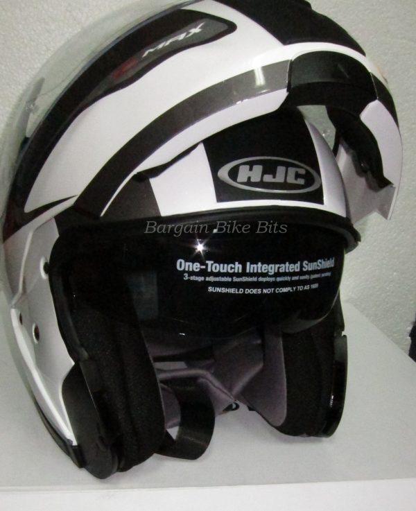 HJC IS SPRINT Flip Up Motorcycle Road Helmet  with SUNVISOR - image 1c-bbb-600x737 on https://www.bargainbikebits.com.au