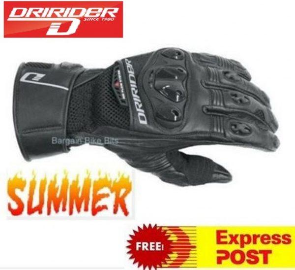 Dririder Aero Mesh 2 Summer vented motorcycle gloves - image aeromesh-2-600x548 on https://www.bargainbikebits.com.au