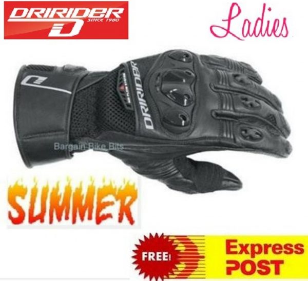 Female Dririder Aero Mesh 2 Summer vented motorcycle gloves Ladies - image aeromesh-2-Copy-600x548 on https://www.bargainbikebits.com.au