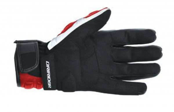 Dririder 'Phantom' Leather Motorcycle Gloves Black/Red - image red-palm-600x387 on https://www.bargainbikebits.com.au