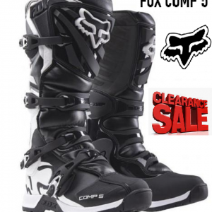 FOX COMP 5 Motocross Boots (black/white) - image COMP-5-black-white-300x300 on https://www.bargainbikebits.com.au
