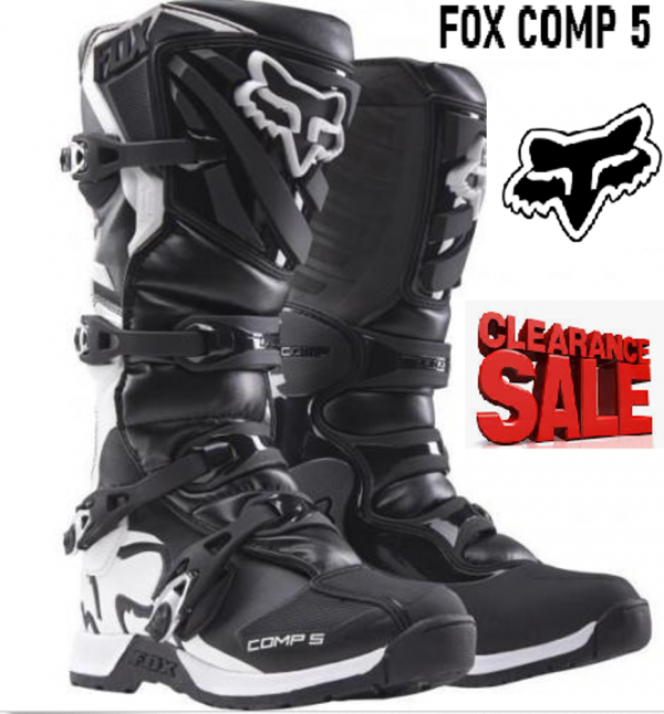 FOX COMP 5 Motocross Boots (black/white) big sizes - image COMP-5-black-white-600x646 on https://www.bargainbikebits.com.au