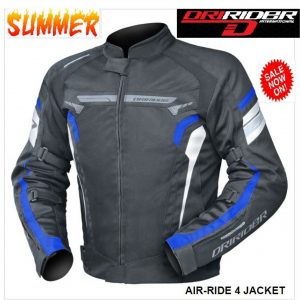 DRIRIDER AIR RIDE 2 VENTED MOTORCYCLE JACKET (BLUE) CLEARANCE - image Dririder-Air-Ride-4-300x300 on https://www.bargainbikebits.com.au
