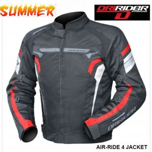 DRIRIDER AIR RIDE 4 VENTED MOTORCYCLE JACKET (black/grey) - image blk-red-300x300 on https://www.bargainbikebits.com.au