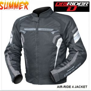 DRIRIDER AIR RIDE 2 VENTED MOTORCYCLE JACKET (BLUE) CLEARANCE - image blk-white-grey-300x300 on https://www.bargainbikebits.com.au