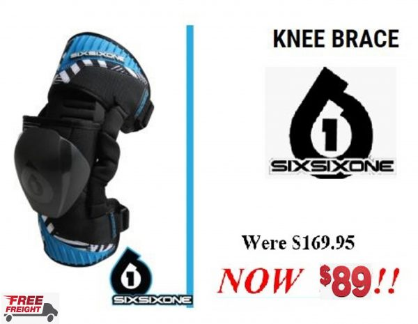 661 USA Mens CYCLONE Knee Brace (Pair) XL SixSixOne knee guards - image cyclone-600x465 on https://www.bargainbikebits.com.au
