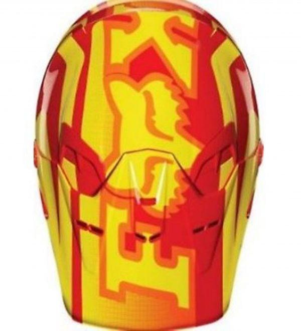 Fox V2 Motocross Helmet KTM Orange - image 2-600x660 on https://www.bargainbikebits.com.au