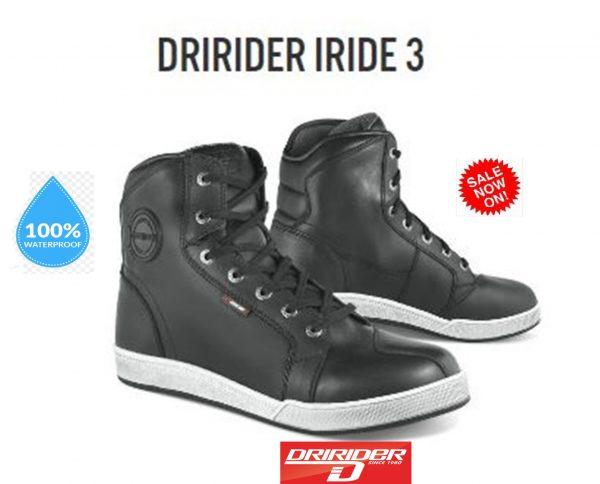 DRIRIDER IRIDE 3 Motorcycle Leather Waterproof Motorcycle Shoes - image Iride-3-600x484 on https://www.bargainbikebits.com.au