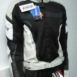 Ryder Cordura/Leather Motorcycle Jacket (black/grey) - image 2-300x300 on https://www.bargainbikebits.com.au