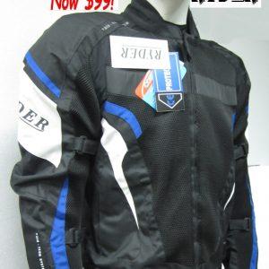 Ryder Cordura/Leather Motorcycle Jacket (black/grey) - image 3-300x300 on https://www.bargainbikebits.com.au