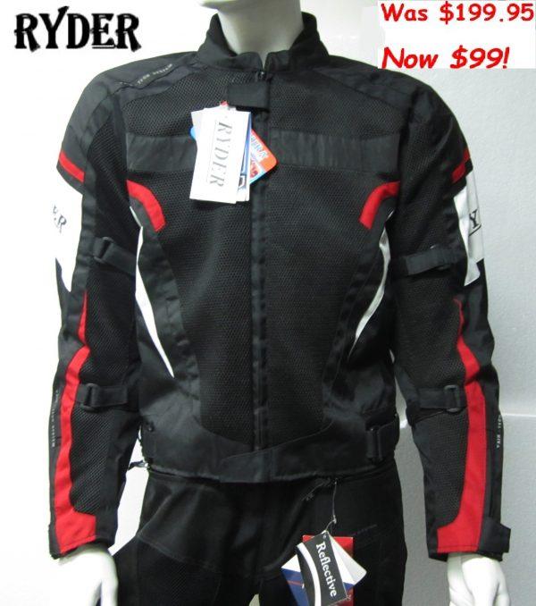 RYDER Vented Motorcycle Jacket (red) - image Ryder-1-1-600x678 on https://www.bargainbikebits.com.au