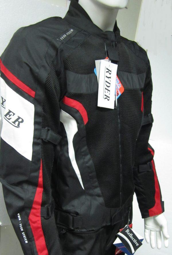 RYDER Vented Motorcycle Jacket (red) - image Ryder-2-600x887 on https://www.bargainbikebits.com.au