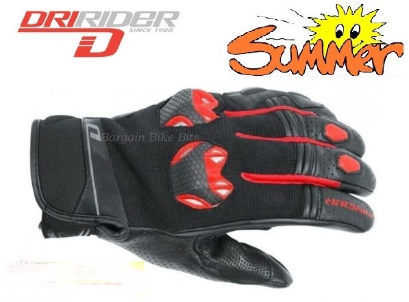 Dririder Fusion Motorcycle Gloves (black/red) XL - image bbb-fusion-red on https://www.bargainbikebits.com.au
