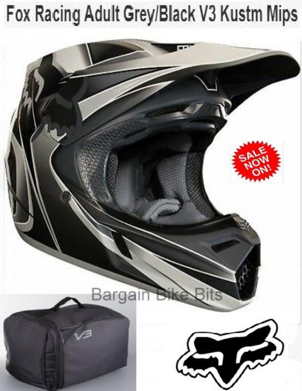 FOX V3 KUSTM Motocross Helmet NEW MIPS Blk Grey MX DirtBike Off Road - image bbb-kustm-600x778 on https://www.bargainbikebits.com.au