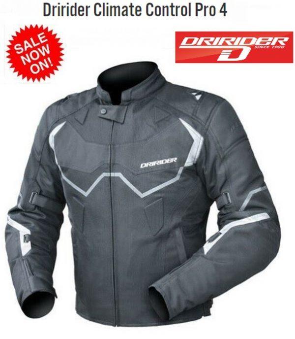 Dririder Climate Control Pro 4 Vented Touring Motorcycle jacket 6XL - image 1-3-600x688 on https://www.bargainbikebits.com.au