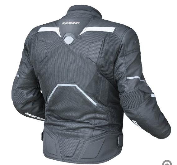 Dririder Climate Control Pro 4 Vented Touring Motorcycle jacket 6XL - image blk-white on https://www.bargainbikebits.com.au