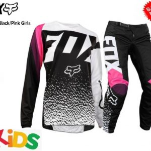Kids Motocross pants and jersey combo pink